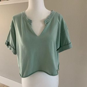 Forever 21 green crop top. Small